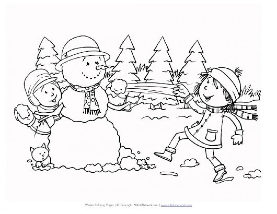 Printable Winter Coloring Pages   808699