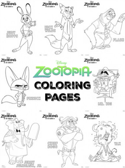 Printable Zootopia Coloring Pages Online 686826