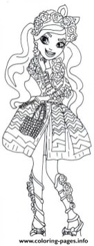 Royal Rebels Ever After High Girl Coloring Pages Printable HY9YV