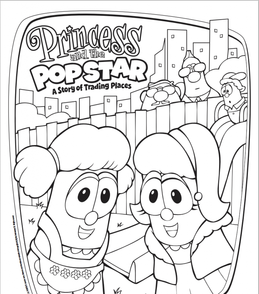 Veggie Tales Coloring Pages Printable - Coloring Home | 960x845