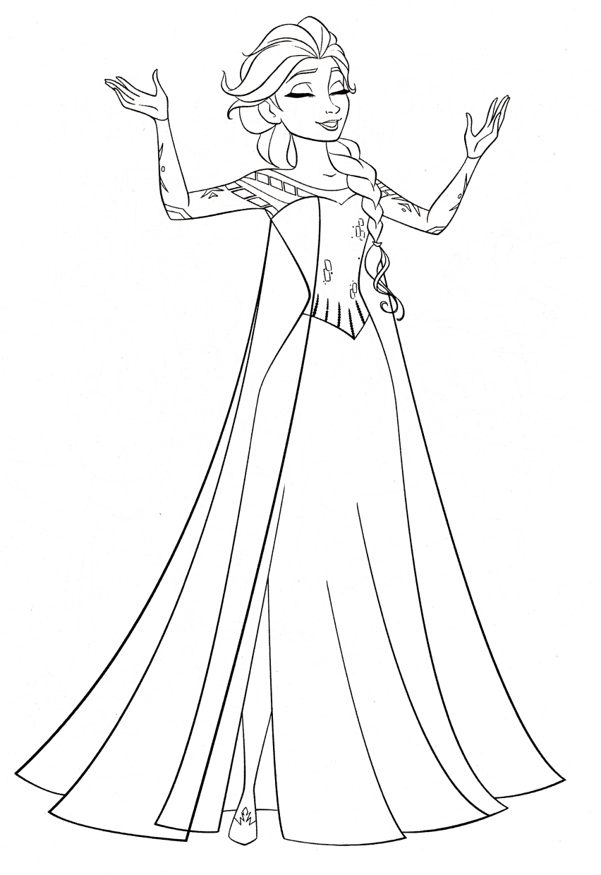 Disney Queen Elsa Coloring Pages Frozen - 61729