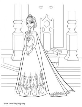 Disney Princess Elsa Coloring Pages Free to Print 5xrw3