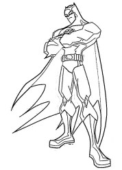 Free Printable Batman Coloring Pages DC Superhero dvh21