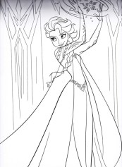 Free Printable Queen Elsa Coloring Pages Disney Frozen 2ZGR8