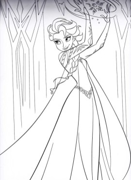 Free Printable Queen Elsa Coloring Pages Disney Frozen 2ZGR8