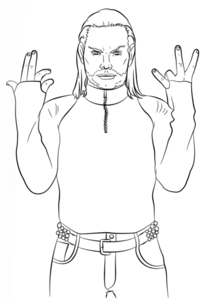 Jeff Hardy Coloring Pages Printable   27FB3