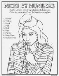Nicki Minaj Coloring Pages To Print 95792