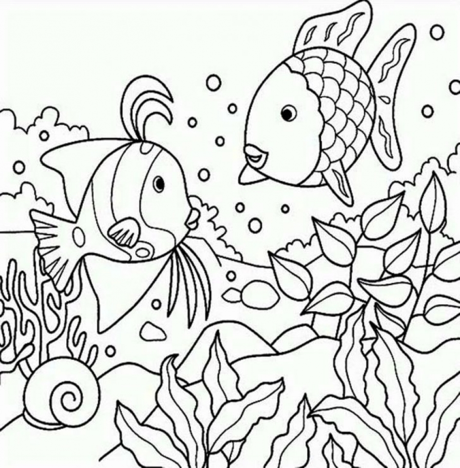 Rainbow Fish Coloring Pages   24153
