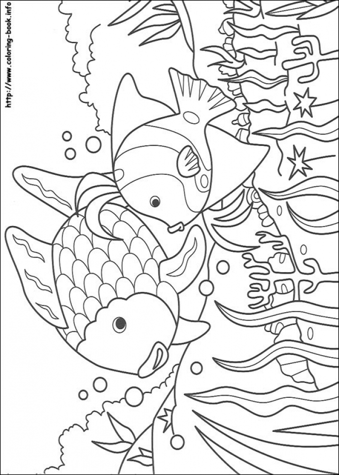 Rainbow Fish Coloring Pages   63881