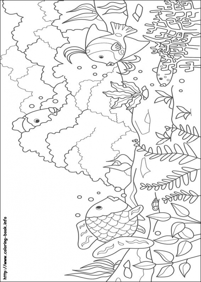 Rainbow Fish Coloring Pages   75637