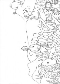 Rainbow Fish Coloring Pages Free 7LAK2