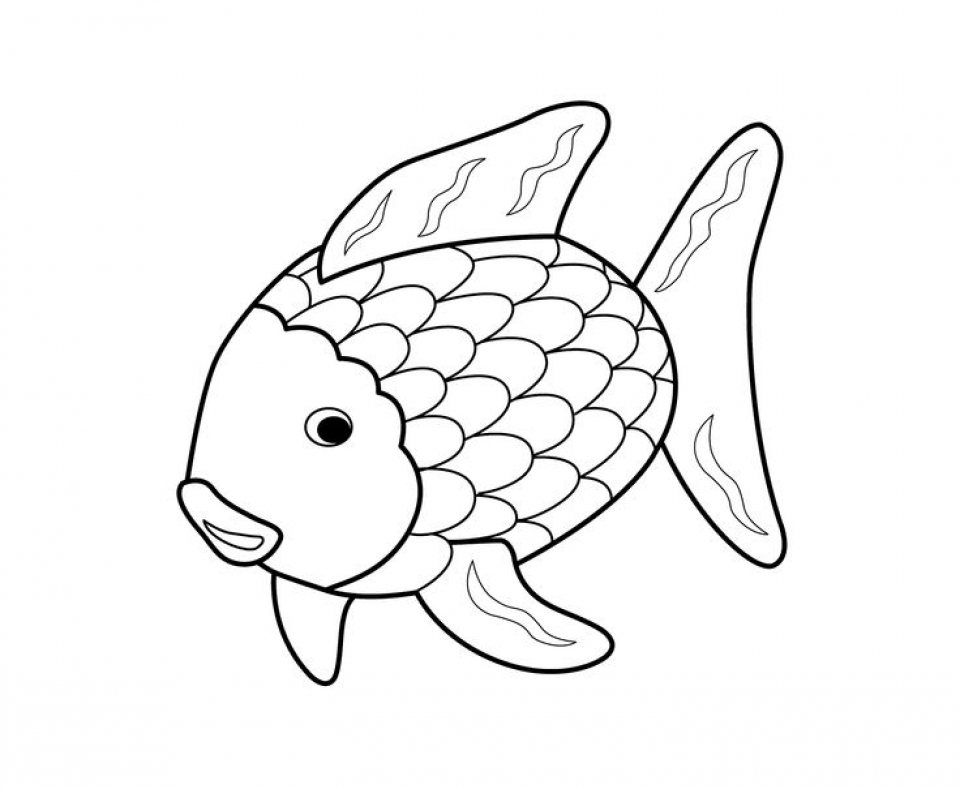 Get This Rainbow Fish Coloring Pages Free 7XVE1