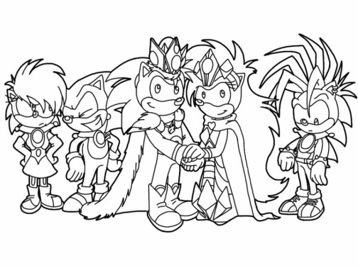 Sonic Coloring Pages for Kids 38450