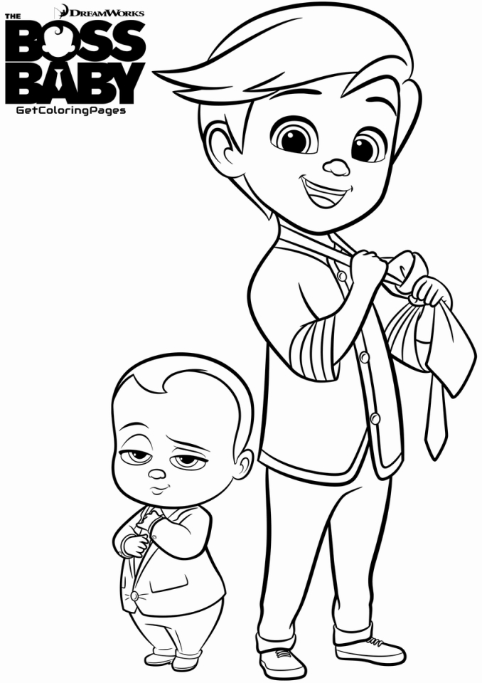 20+ Free Printable Boss Baby Coloring Pages