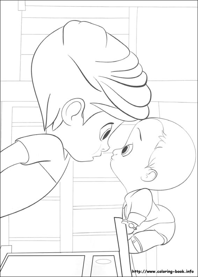 Boss Baby Free Printable Coloring Pages - 67931