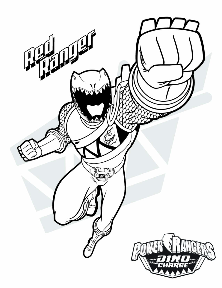 20+ Free Printable Power Ranger Dino Charge Coloring Pages