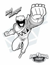 Power Ranger Dino Force Coloring Pages for Kids - 56731