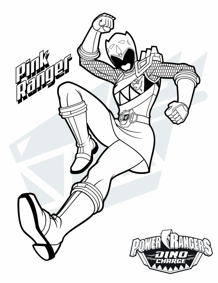 Power Ranger Dino Force Coloring Pages for Kids - 57192