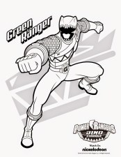 Power Ranger Dino Force Coloring Pages for Kids - 58931