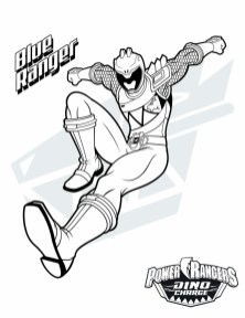 Power Ranger Dino Force Coloring Pages for Kids - 71218