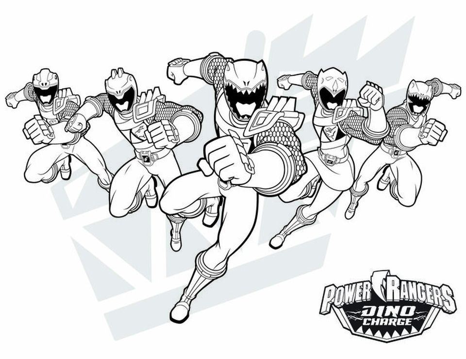 Power Ranger Dino Force Coloring Pages for Kids - 74820