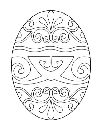 Adults Printable Easter Egg Coloring Pages 68941