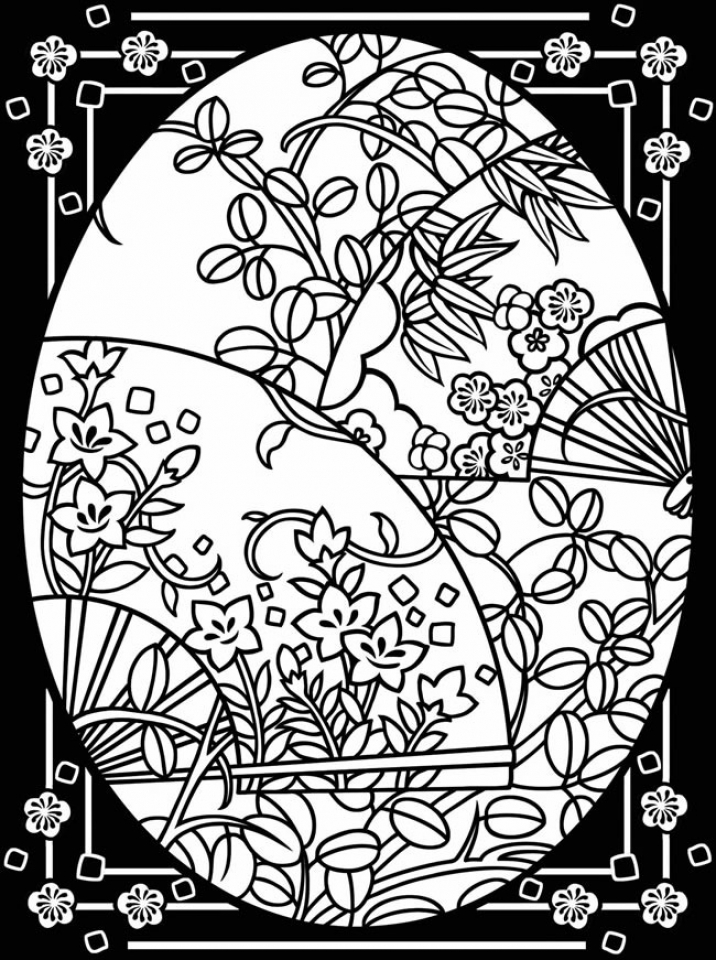 Adults Printable Easter Egg Coloring Pages   76894