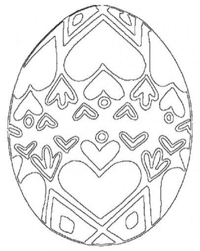 Advanced Coloring Pages of Easter Egg for Grown Ups 39981