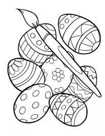 Advanced Coloring Pages of Easter Egg for Grown Ups 77518