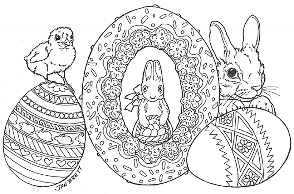 Easter Egg Hard Coloring Pages for Adults   00958