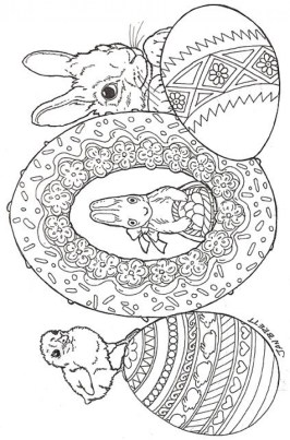 Easter Egg Hard Coloring Pages for Adults 66771