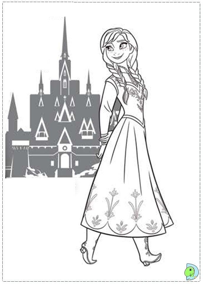 Free Coloring Pages of Princess Anna from Disney Frozen   11791