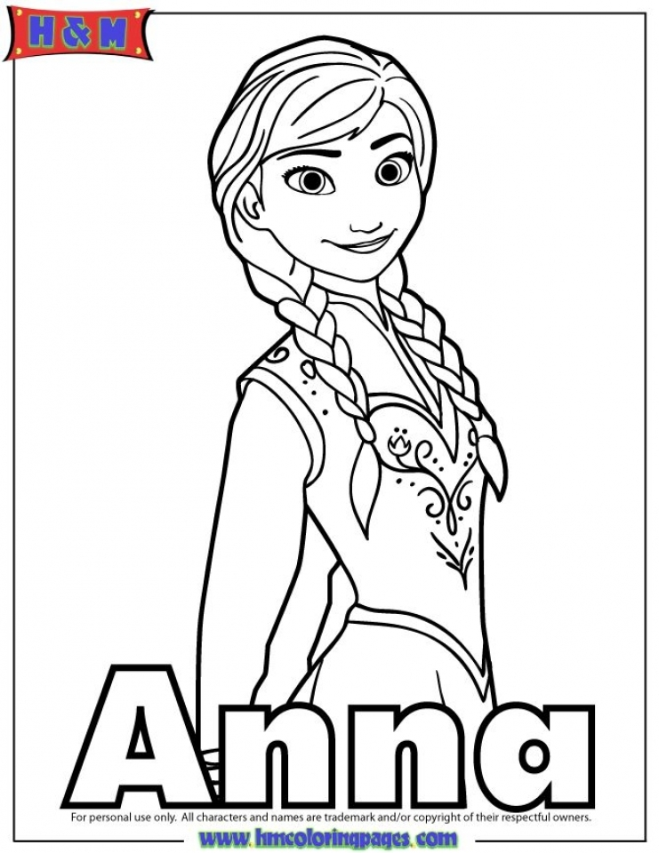 Get This Free Coloring Pages of Princess Anna from Disney ...