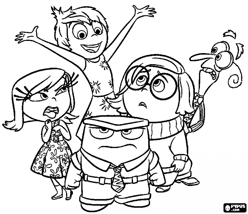 Get This Free Inside Out Coloring Pages Disney Printable 52661
