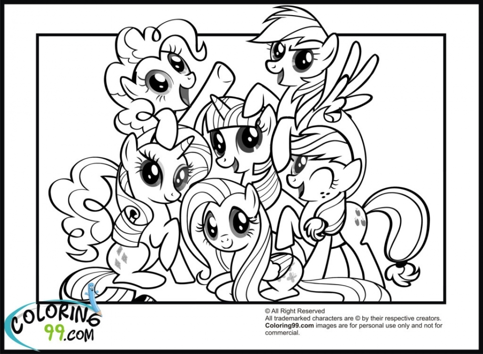 Free My Little Pony Friendship Is Magic Coloring Pages for Toddlers   54495