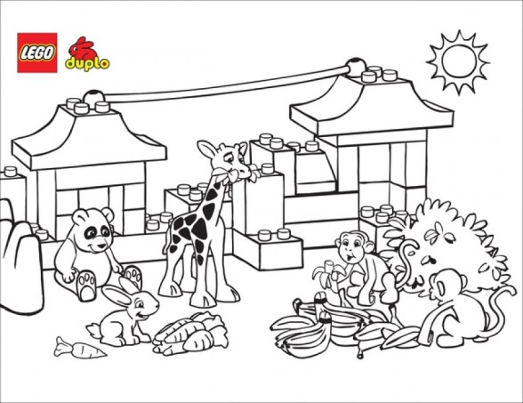 Free Picture of Zoo Coloring Pages 94433