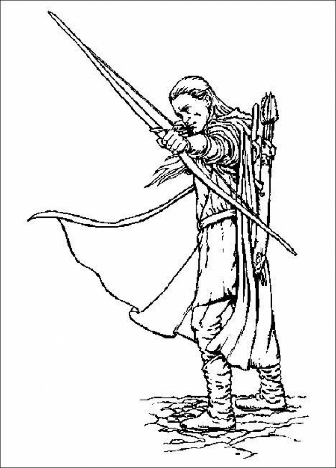 Free Printable The Hobbit Coloring Pages   3728