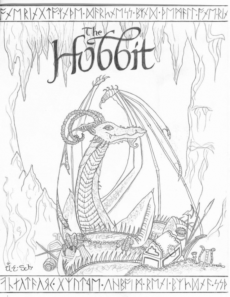 Free Printable The Hobbit Coloring Pages   6387