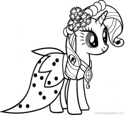 My Little Pony Friendship Is Magic Coloring Pages to Print for Kids 48520