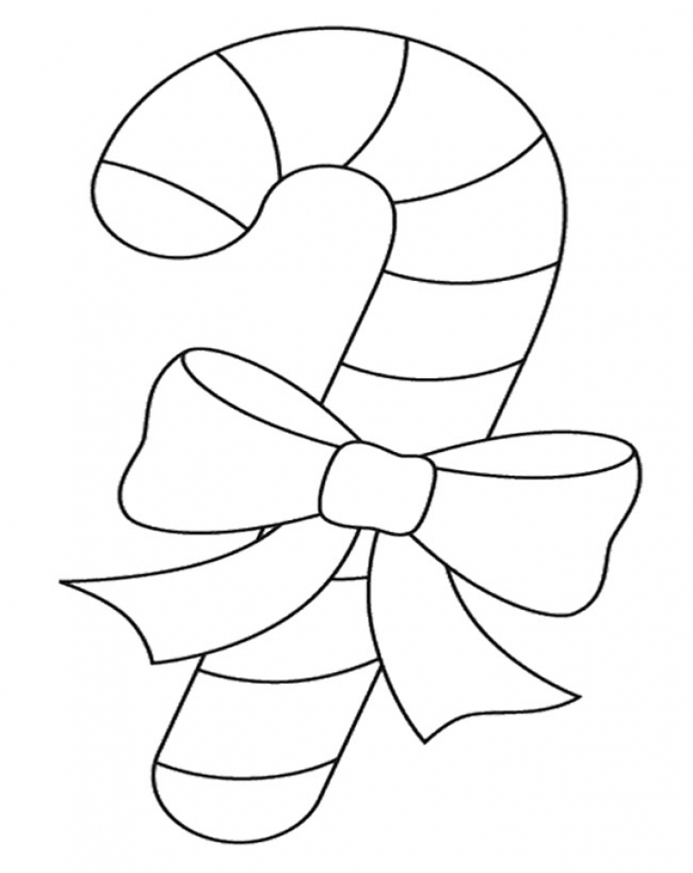 Online Candy Cane Coloring Page to Print   58046