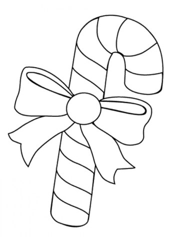 Online Printable Candy Cane Coloring Page 49295