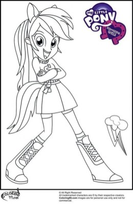 Printables for Toddlers Rainbow Dash Coloring Pages Online Free 64267