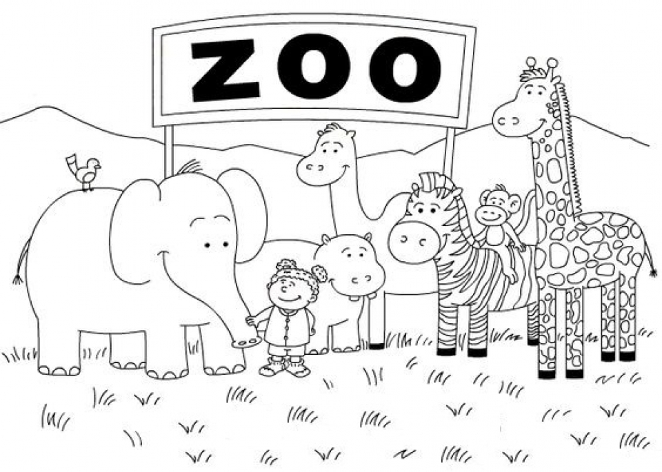 Get This Zoo Coloring Pages Free to Print 56347