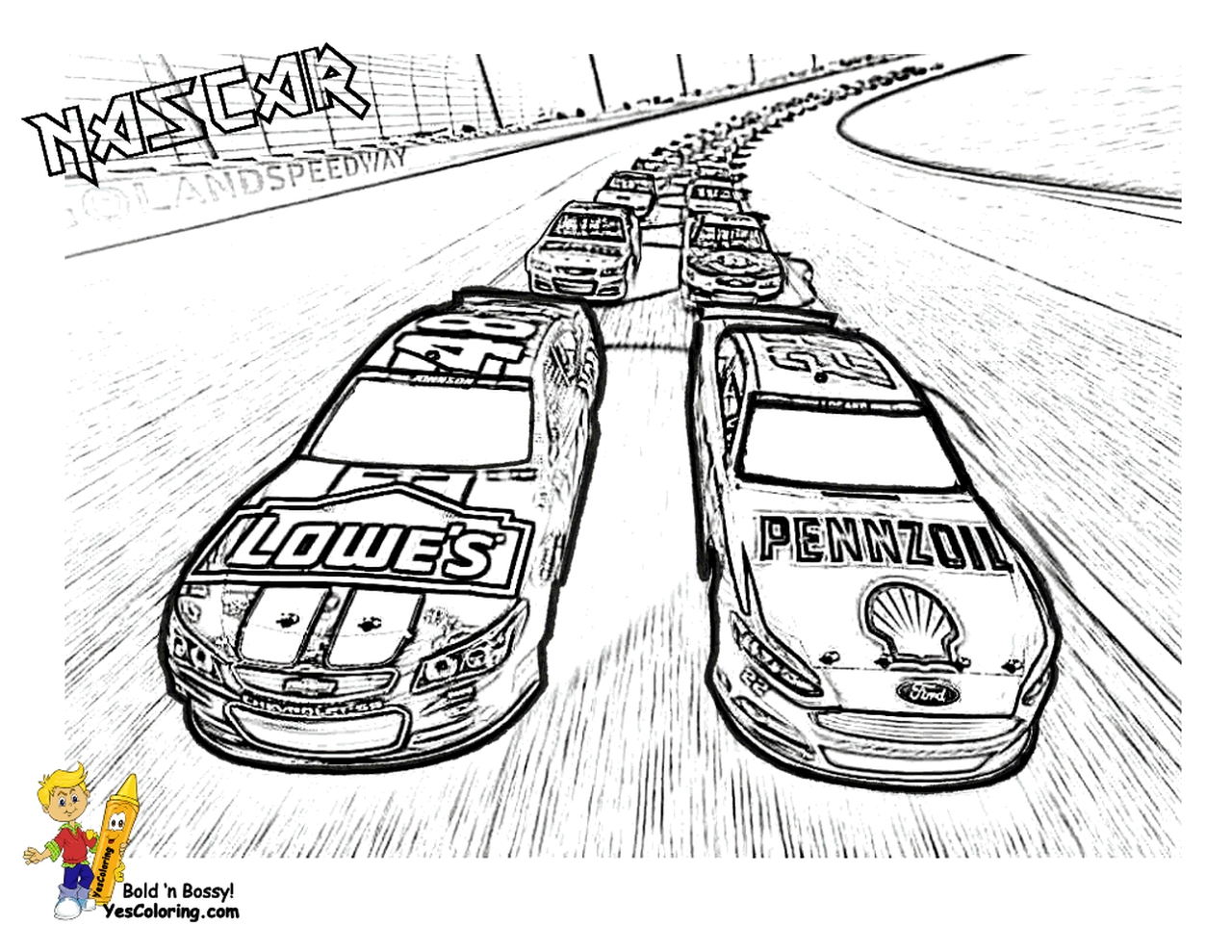 Get This American Nascar Racing Car Coloring Pages For