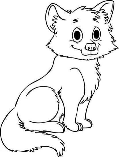Cute Baby Wolf Coloring Pages - 66573