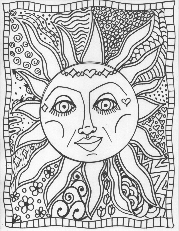 Free Summer Coloring Pages for Adults to Print - 79936