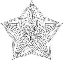 Hard Geometric Coloring Pages to Print Out - 15739