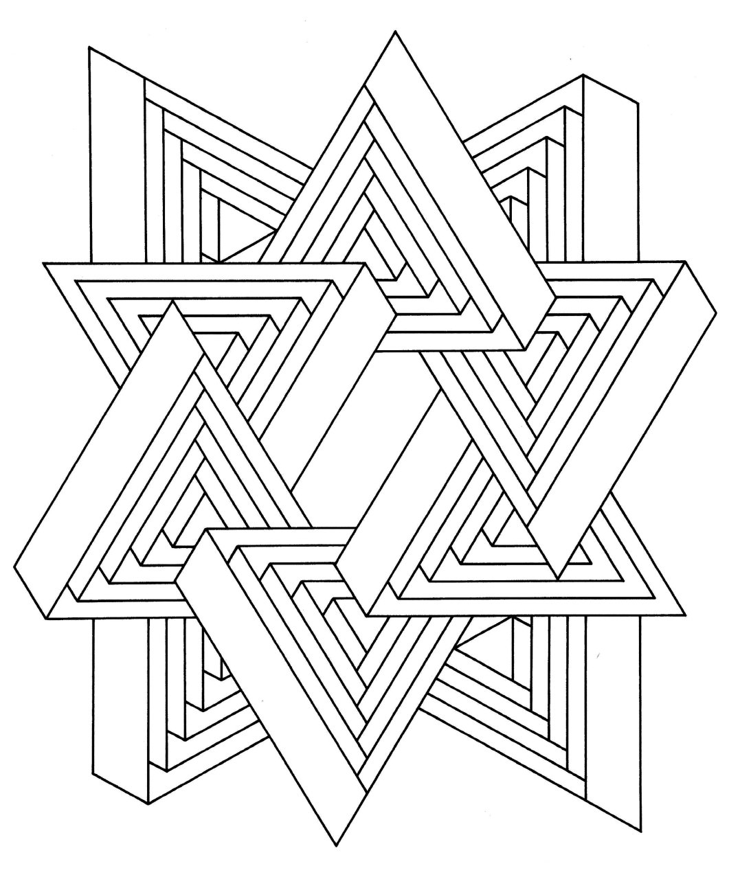 Free 3D Coloring Pages Printable, Download Free Clip Art, Free ... | 1280x1077