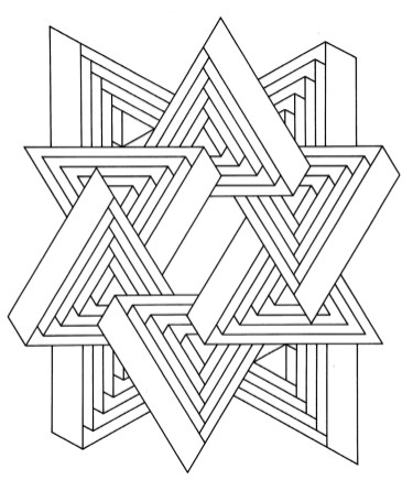 Hard Geometric Coloring Pages to Print Out - 36712