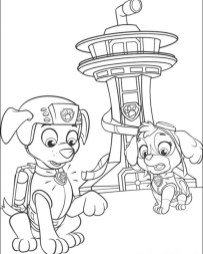 Kids Printable Paw Patrol Coloring Pages Zuma and Sky - 37194